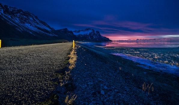 Free stock photo of sea, road, dawn, landscape