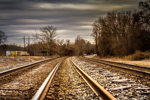 Free stock photo of road, rocks, rails, train