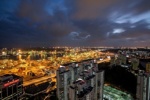 交通, 全景, 城市, 夜景 的 免费素材照片