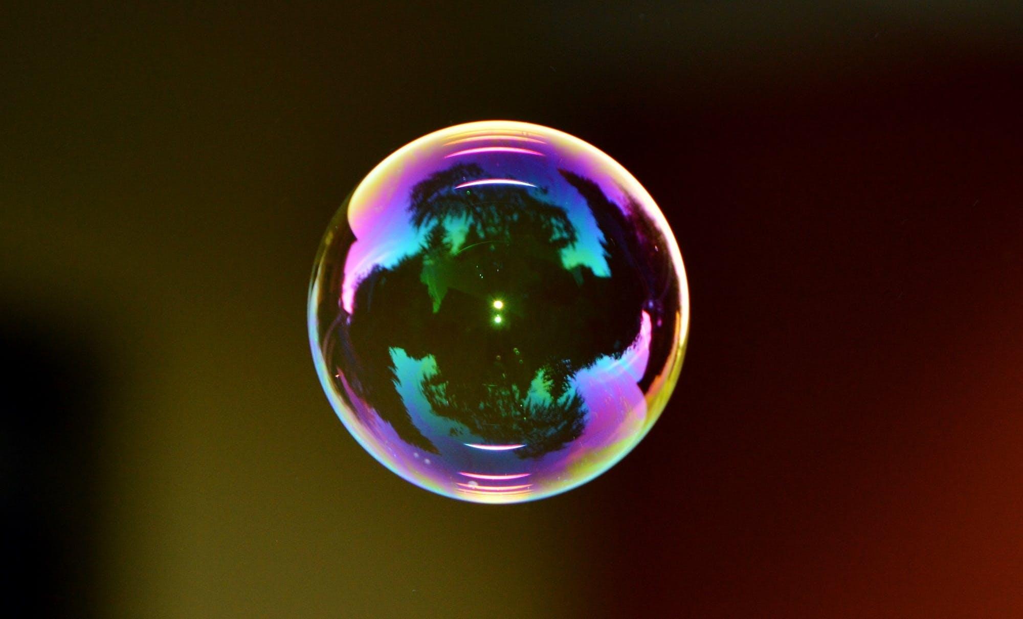 Macro Focus Photo of a Bubble