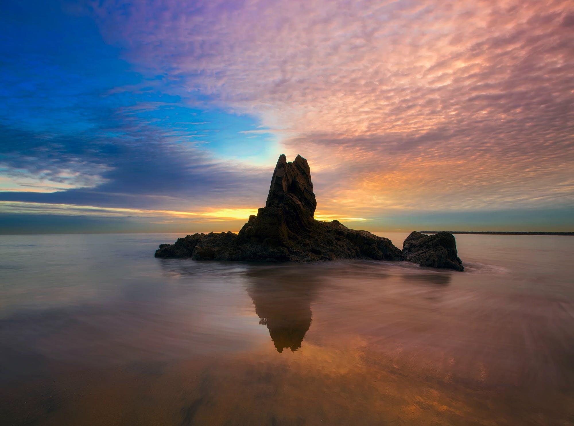 akşam, bulutlar, deniz, deniz manzarası içeren Ücretsiz stok fotoğraf