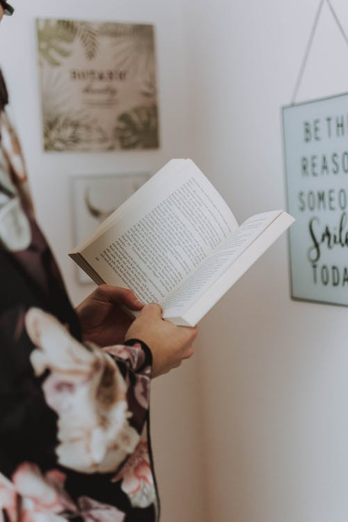 Person Holding a Book