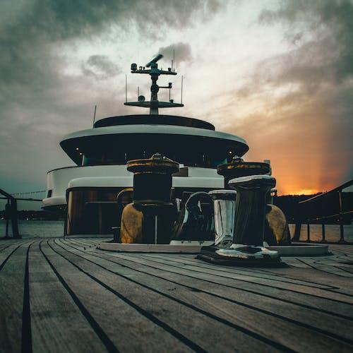 Free stock photo of beautiful sunset, boat, boat deck