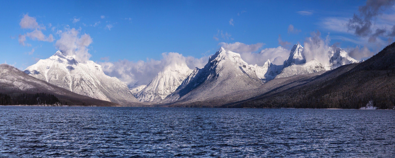 Mountain Ranges Near Body of Water