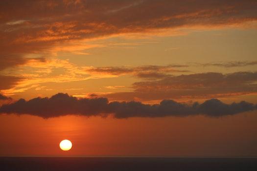 Free stock photo of sunset, ocean, island, hawaiian