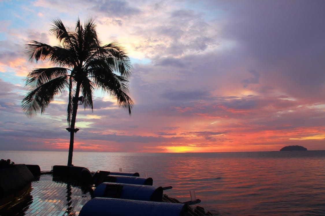 вечер, вода, восход