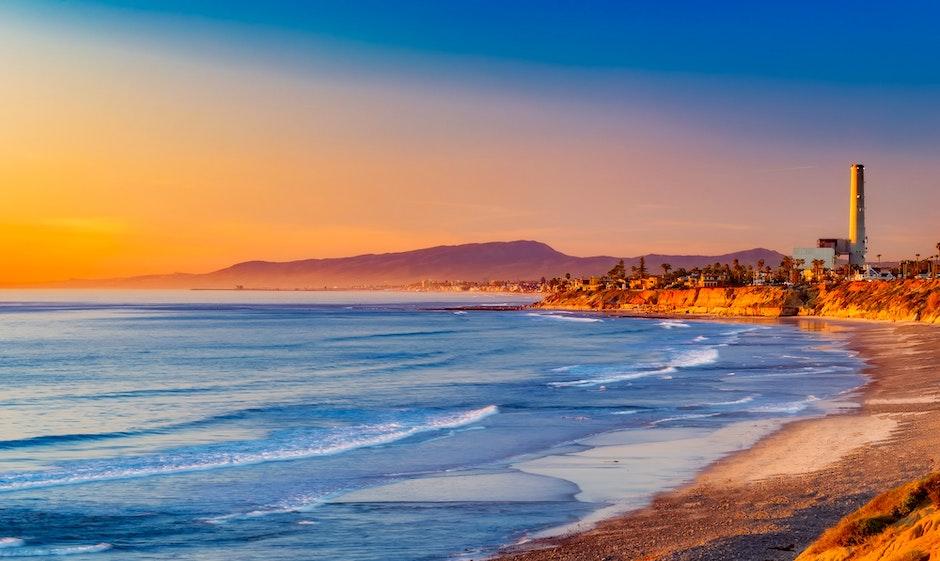 beach, beautiful, california