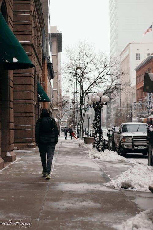 Gratis stockfoto met amerika, binnenstad, denver, sneeuw