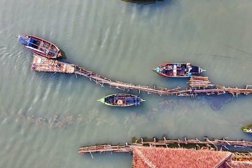 Vogelperspektive Von Booten Auf Gewässern