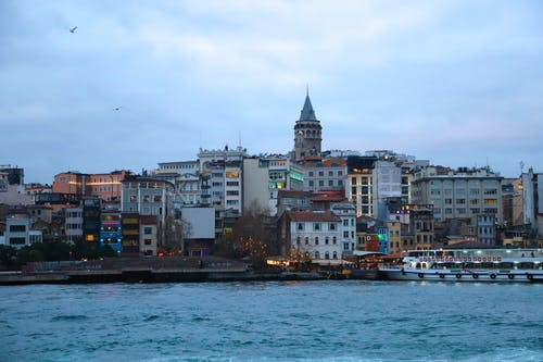 Free stock photo of apartment buildings, big city, galata tower, holiday