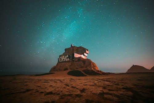 Desert Land Under A Starry Sky