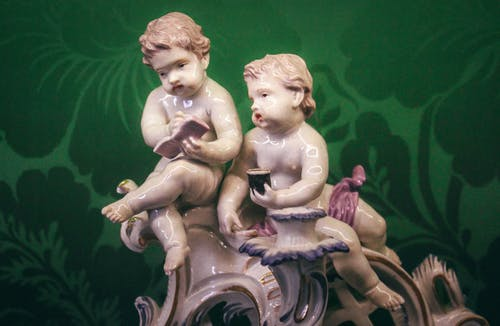 Free stock photo of children, couple, miniature, rococo