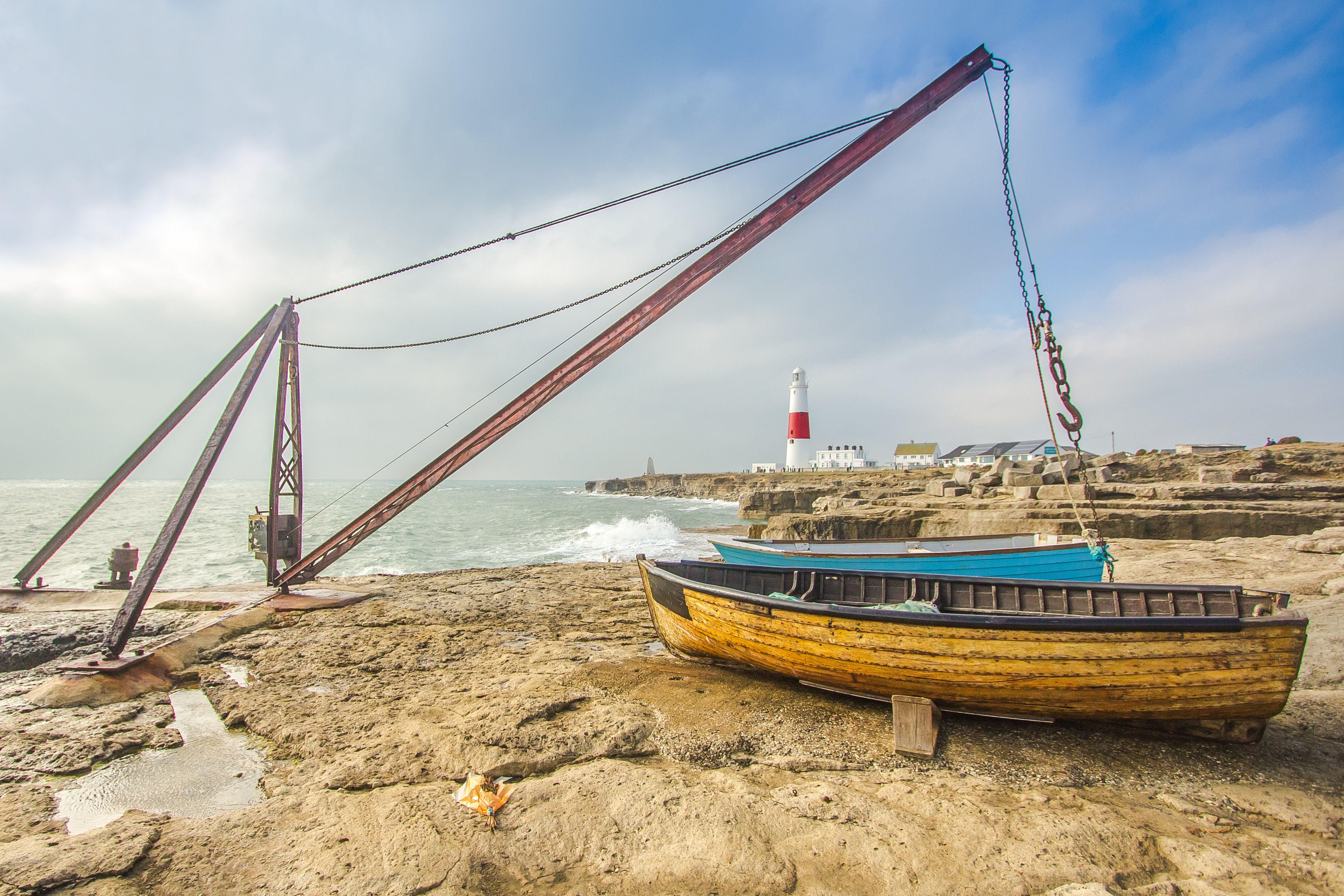 Foto profissional grátis de aço, água, anzol, baía