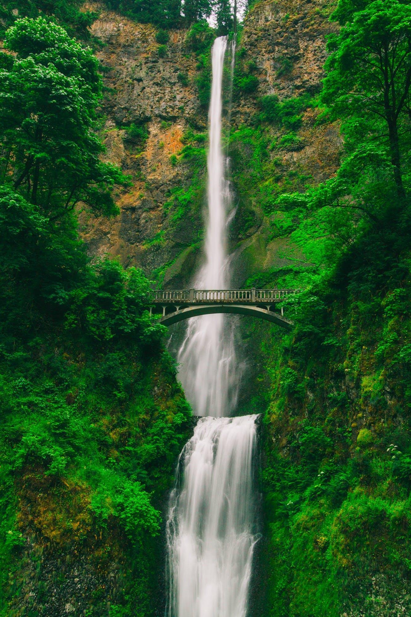 Bridge Near Waterfall