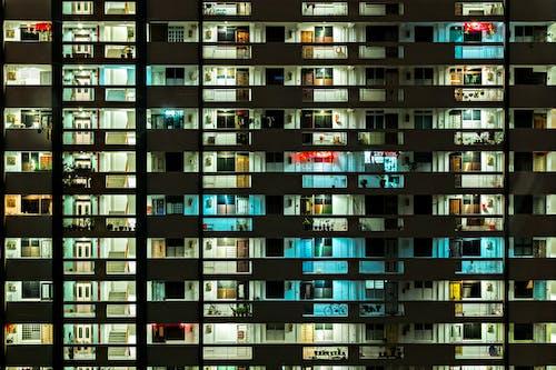 Darmowe zdjęcie z galerii z architektura, budynek, miejski, noc