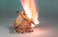 fire, hot, matches