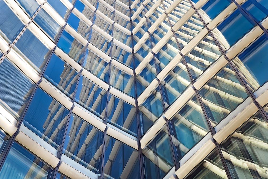 acciaio, alto, architettura