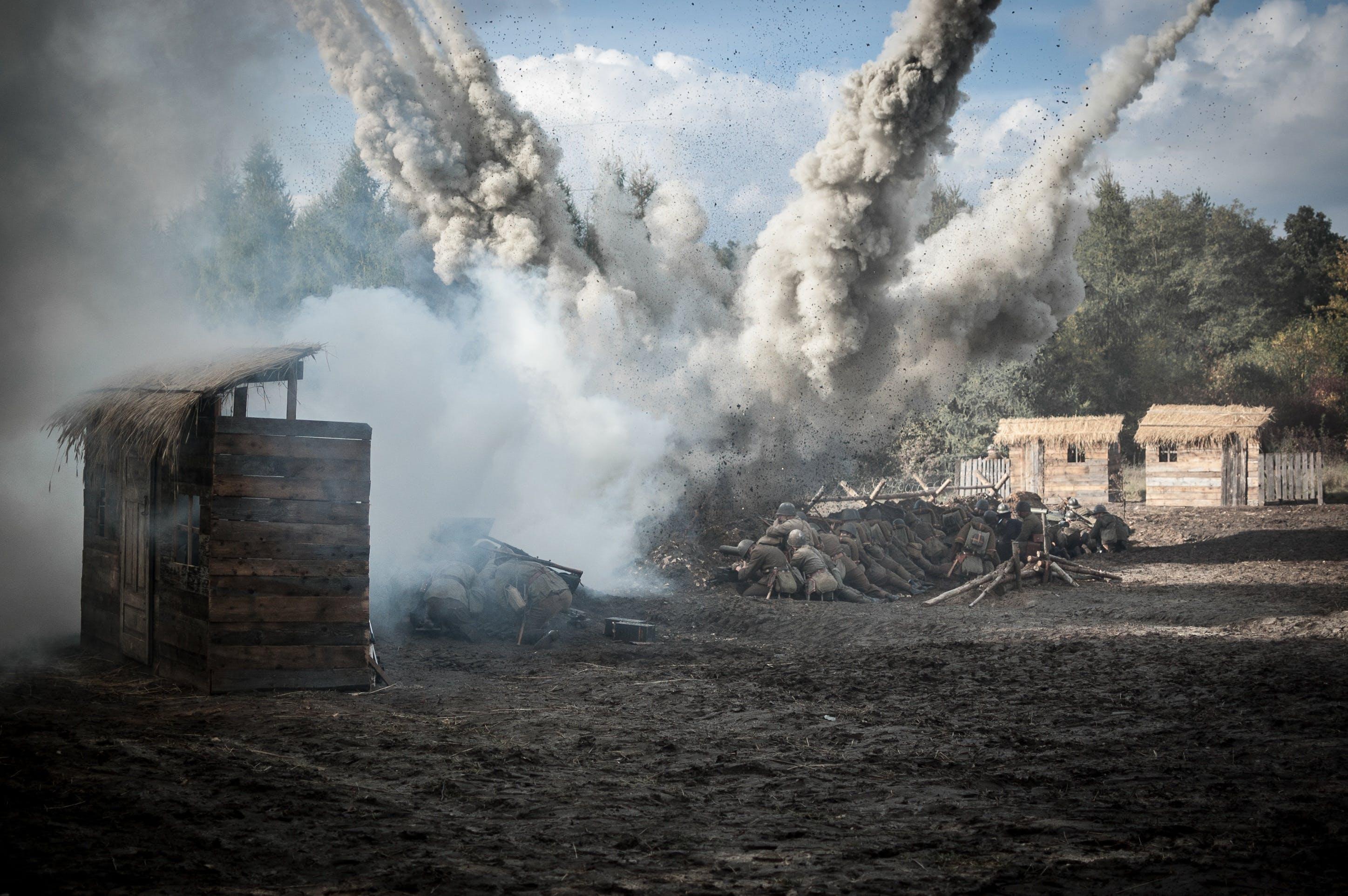 Explosion Near Brown Hut