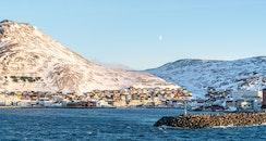 snow, sea, landscape