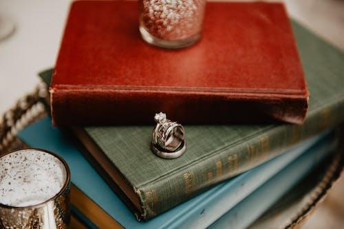 Free stock photo of books, rings, wedding
