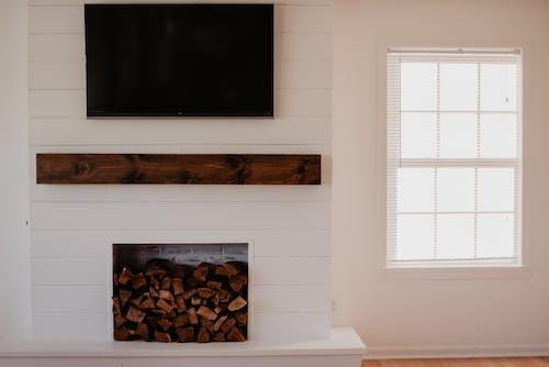 壁爐, 客廳, 牆壁 的 免费素材图片