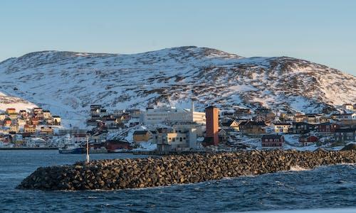下雪的, 冬季, 城鎮, 天空 的 免费素材照片