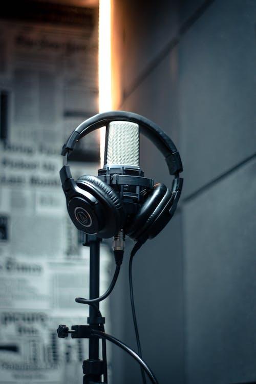 Photo Of Headphones On Mic