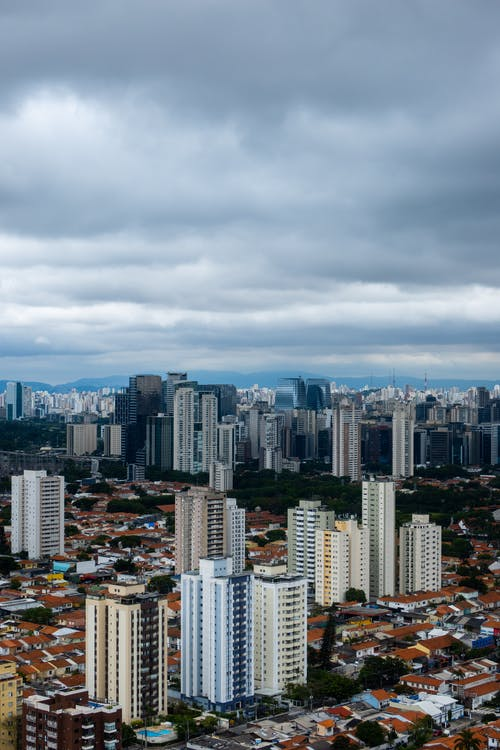 Bird's Eye View Photo of City Under Cloudy Sky