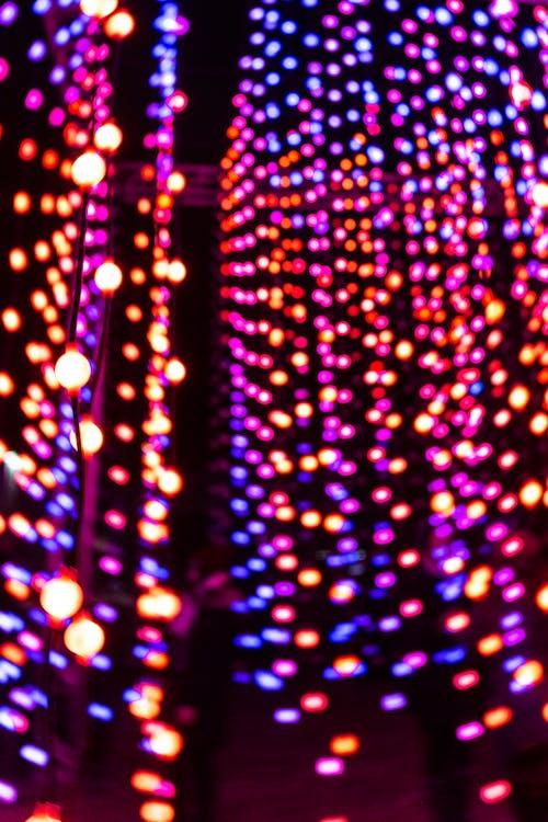 Kostenloses Stock Foto zu beleuchtet, beleuchtung, bokeh, bunt