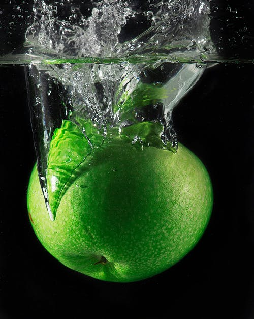 Close-up Photography Green Apple