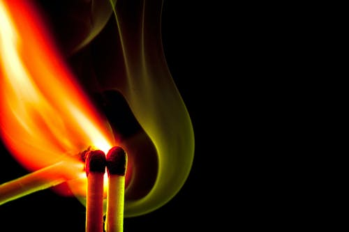 Free stock photo of fire, head, matchstick