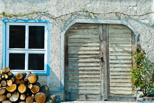 Free stock photo of window, wooden door