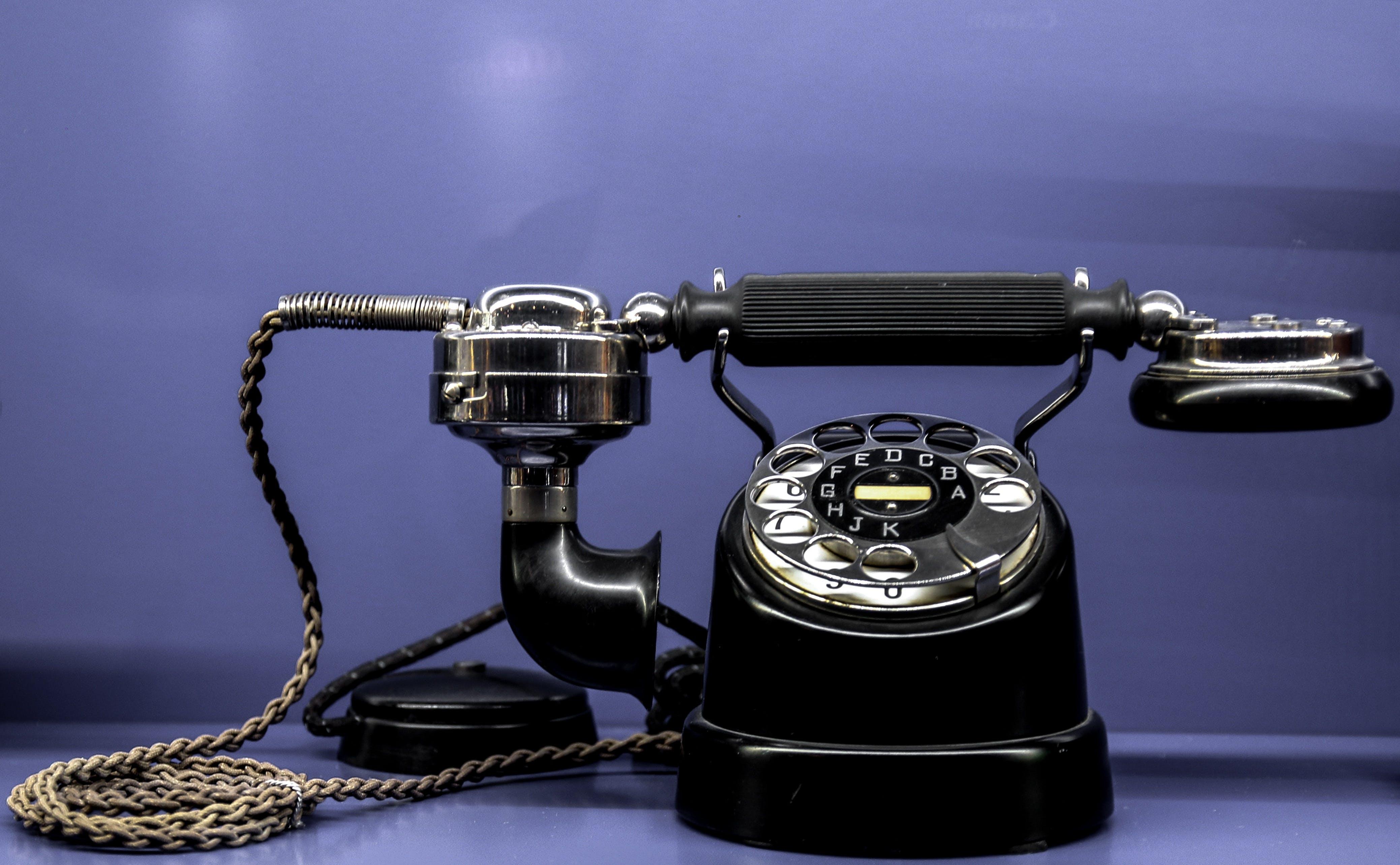 Kostenloses Stock Foto zu anruf, antik, kommunikation, nostalgisch