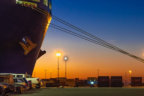 Free stock photo of container ship, harbour