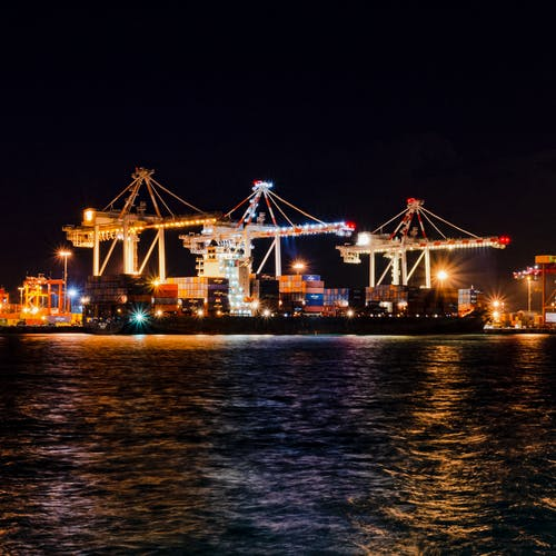 Free stock photo of container port, container ship, harbour