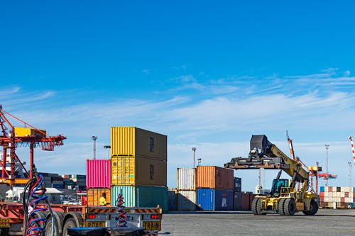 Free stock photo of bluesky, shipping containers