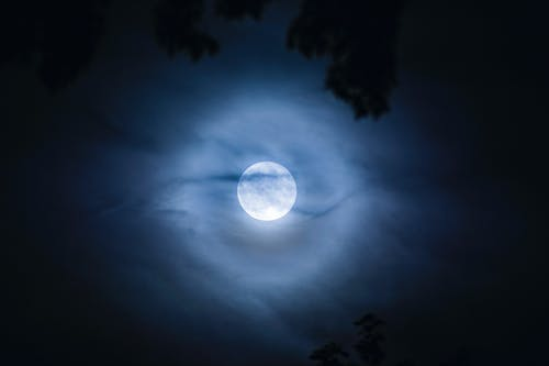 Free stock photo of abstract, aura, clouds, moon
