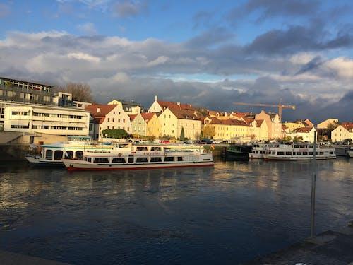 Free stock photo of Danube River Regensburg Germany