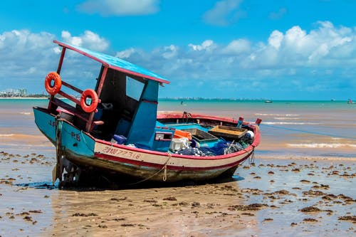 Foto profissional grátis de barco, litoral