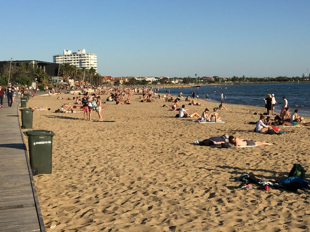 Free stock photo of australia, melbourne, St Kilda Beach