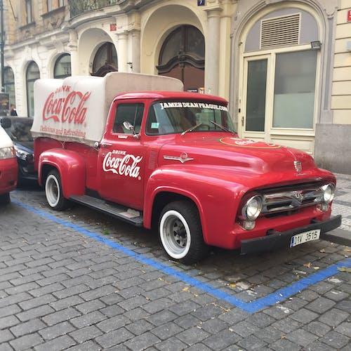 Free stock photo of Coca Cola Van