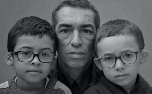 가족, 블랙 앤 화이트, 초상화의 무료 스톡 사진