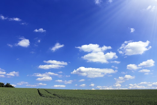 Desktop background of nature, sky, sunny, clouds