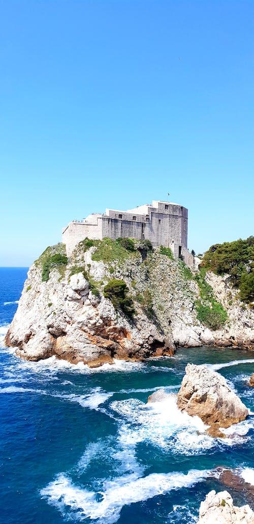 Free stock photo of castle, cliff coast, coast, croatia
