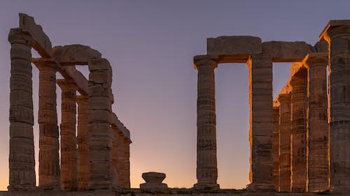 Δωρεάν στοκ φωτογραφιών με βραδινός ουρανός, ιστορικό κτίριο, ναός, χρυσό φως