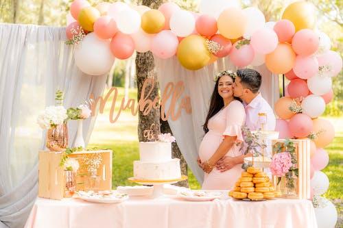 Foto stok gratis baby shower, balon, cake, cinta