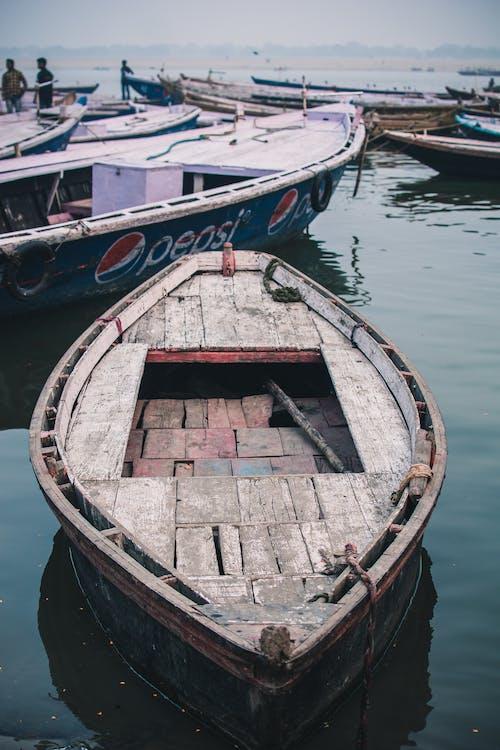 Free stock photo of boat, closeup, dark, desserted