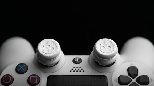Close-up Photo of  White Game Controller