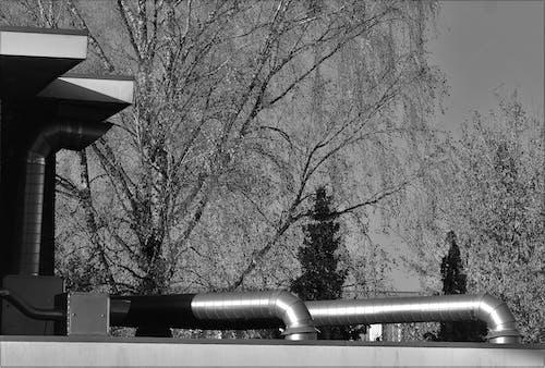 Foto d'estoc gratuïta de canonades metàl·liques al terrat