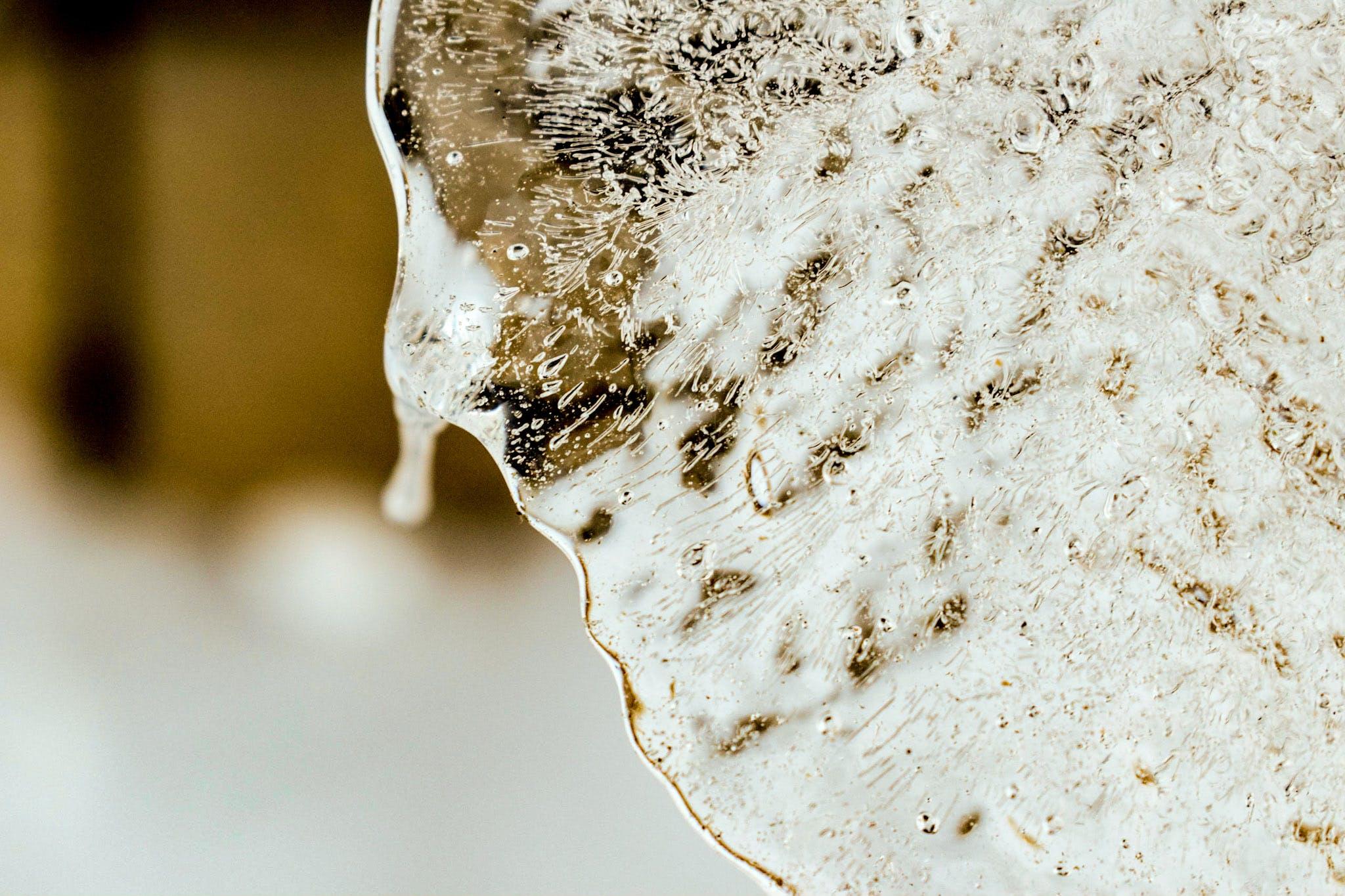 Closeup of an Icy Flake